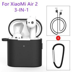 Image 1 - 3 in 1 Silikon Fall Für Xiaomi Airdots 2 2s Wireless Bluetooth Headset Schutzhülle Für Xiaomi Air 2 2s Headset Abdeckung