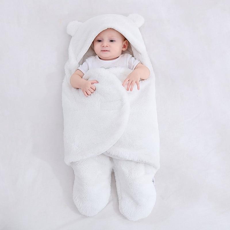 Baju tidur bayi bulu lembut berbulu lembut yang baru lahir menerima - Peralatan tempat tidur - Foto 5