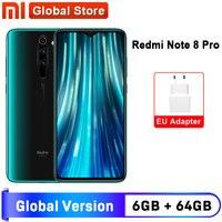 Xiaomi-Smartphone Redmi Note 8 Pro, versión Global, 6GB y 64GB, Quad cámara de 64MP, Helio G90T Octa Core, 4500mAh, NFC