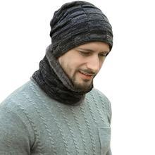 Hat Scarf-Set Beanie Winter Women Warm Knit for Lined Skull-Cap Thick-Fleece
