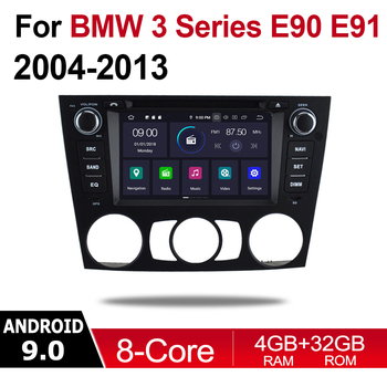 4GB android 9.0 car dvd player For BMW 3 Series E90 E91 E92 E93 2004~2013 Multimedia GPS Navigation Map Autoradio WiFI Bluetooth image