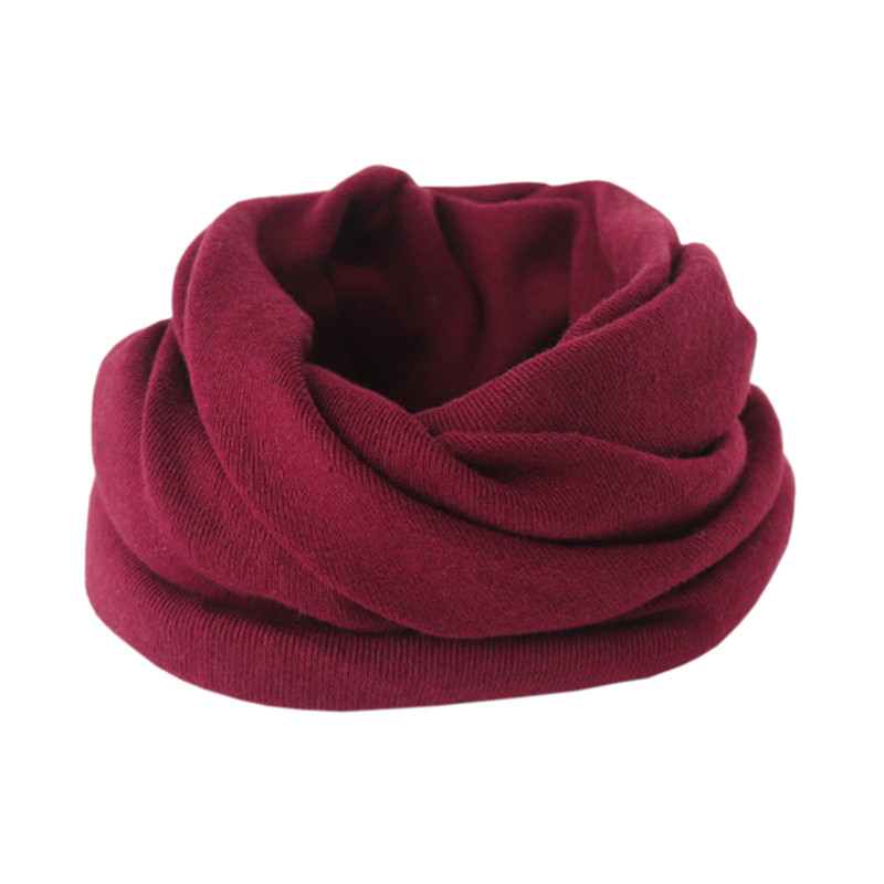 wine red scarf