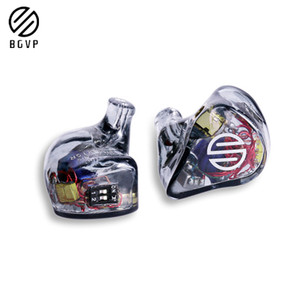 BGVP DH3 1DD+2BA Hybrid In-Ear Earphone Customized Earphone HIFI Music DJ Detachable MMCX Cable DM7\DMS\DM6\DMG\DX3S\DN1S\Q2\H7(China)