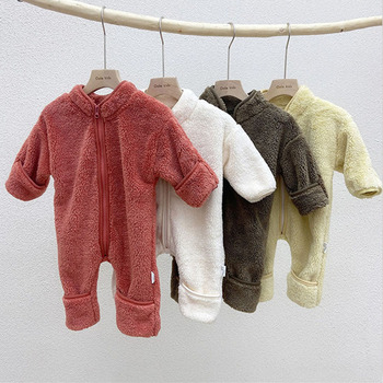 Winter Baby Rompers Newborn Clothes Thicken Fleece Boys Warm Girls Outfit umpsuit