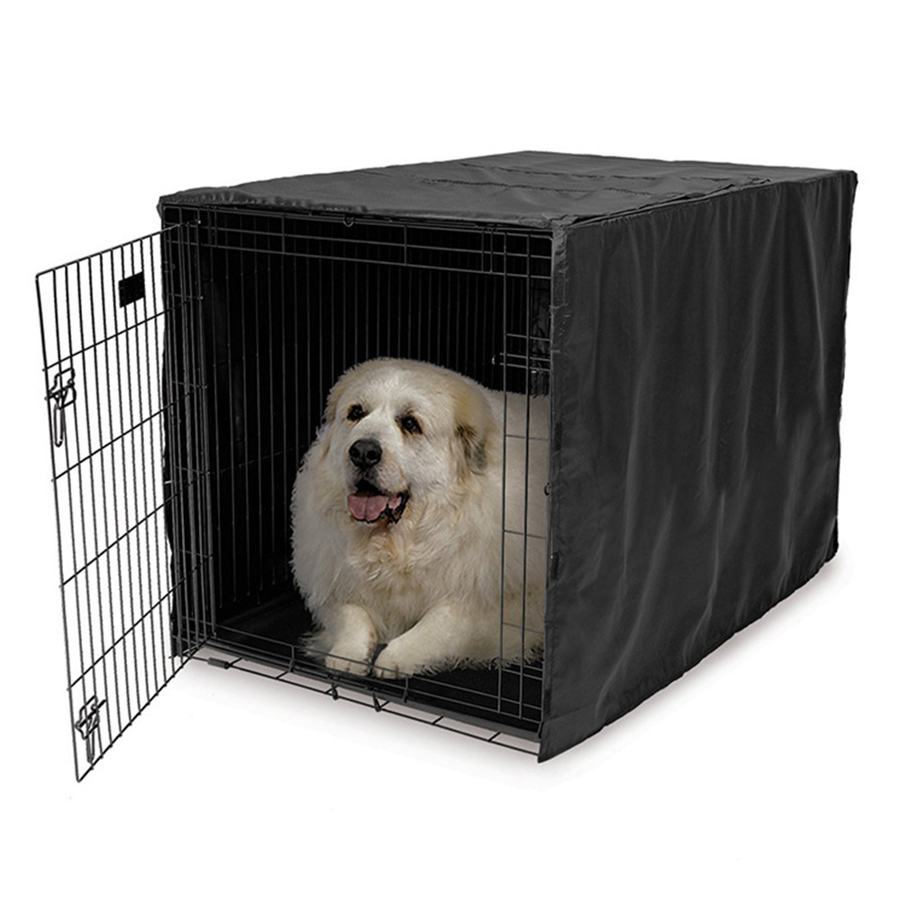 210D <font><b>Kennel</b></font> Reduce Stress <font><b>Dog</b></font> Cage <font><b>Cover</b></font> House Windproof Pet Supplies Foldable Sunscreen Water Resistance Windsheild Dustproof image
