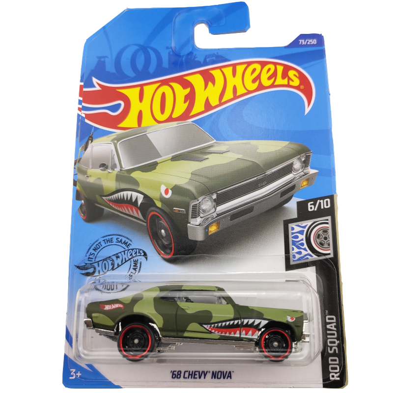 2020-73 Hot Wheels 1:64 Car 68 CHEVY NOVA  Metal Diecast Model Car Kids Toys Gift