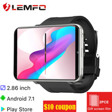 "Lemfo Lem T 2.86 ""Smart Horloge Mannen Vrouwen 4G Smartwatch Android 7.1 Met 5MP Camera 2700 Mah Smart horloge Gps Fitness Armband(China)"