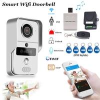 Smart Doorbell Wifi Video Intercom HD Camera Android/IOS Phone Motion Sensor Alarm Night Vision Home Office Wireless Gate opener