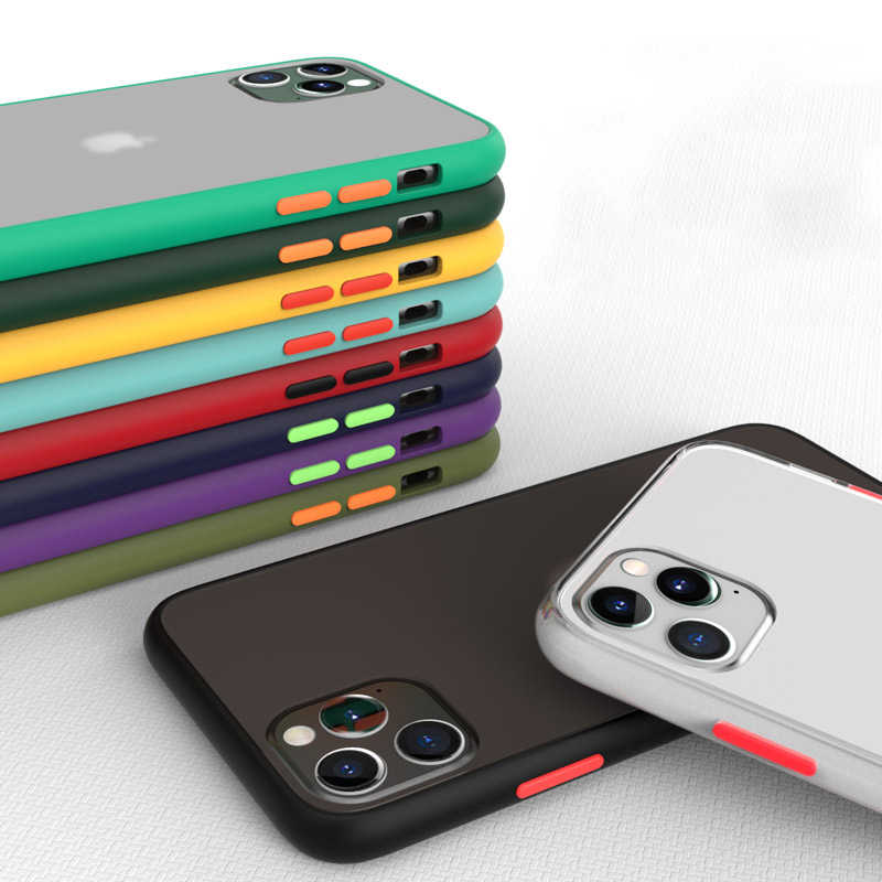 LOVECOM Telefon Fall Für iPhone 11 Pro X XR XS Max 7 8 Plus Luxus Kontrast Farbe Rahmen Matte Hard PC Schutzhülle Zurück Abdeckung Coque