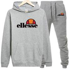 2019 Spring Sporting Suits Men Ellesse Hip Hop Hooded Hoodies + Pants Tracksuits Autumn Casual Mens Sportswear Sets(China)