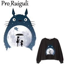 Tonari no Totoro Patch Iron on Heat Transfer Printing Patches Stickers for Clothes DIY Appliques Washable A-level decorations dark animal wolf iron on heat transfer printing patches stickers for clothes t shirt diy appliques washable patches wholesale