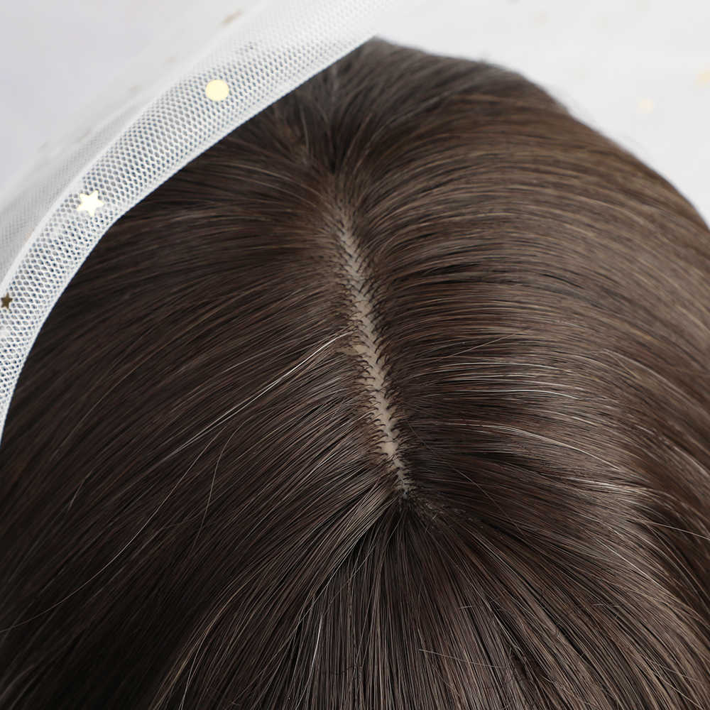 Easihair onda longa marrom para loira ombre perucas sintéticas para mulheres onda do corpo cabelo cosplay perucas lolita festa resistente ao calor perucas