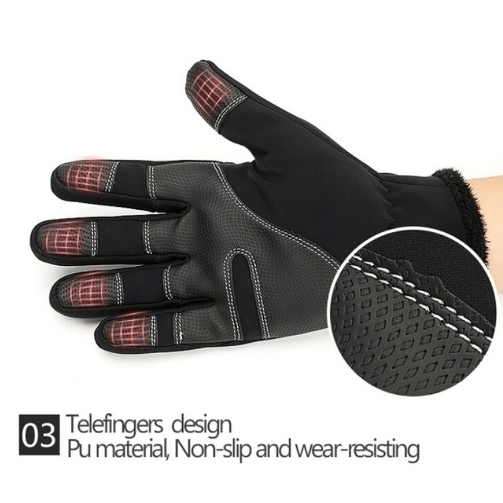 Mens Unisex Leather Gloves Touch Screen Thinsulate Lined 2019