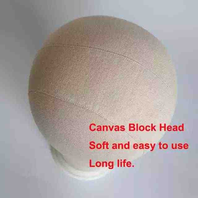 Cabeza de lona peluca soporte maniquí cabeza peluca soporte para mujeres hacer pelucas maniquí cabeza colgador maniquí cabeza para pelucas la cabeza de pie