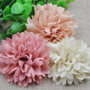 9 Uds., moños de flores de listón grandes de 75mm, rosa, artesanía de boda, apliques de decoración, MIX A173