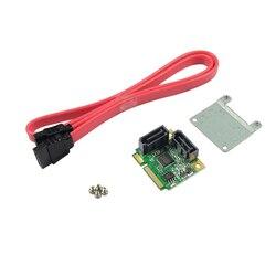 Wysokiej jakości Mini pci-express do SATA 3.0 obsługuje 6 Gb/s 2x karta kontrolera wewnętrznego portu RAID