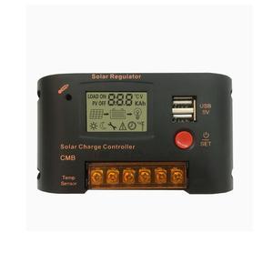 Image 2 - 10A 20A PWM регулятором солнечного Зарядное устройство Управление; 12v/24v Авто ЖК дисплей Дисплей Dual USB 5V 2A Выход солнечный регулятор с светильник и время Управление