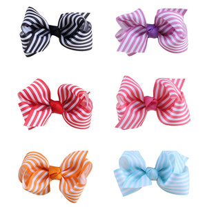 Hair Accessories For Girls Hairclip Baby Girl Stripe Bowknot Hairpin Headdress Delicate Beautiful Hairclips