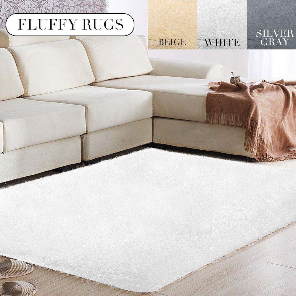 Tapis de sol tapis moelleux tapis anti-dérapant Shaggy chaud lumineux fibres de Polyester multicolore 160x230cm chambre maison salon