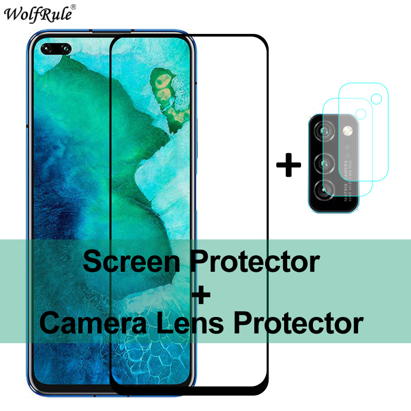 2Pcs Screen Protector For Huawei Honor View 30 Pro Tempered Glass Back Camera Len Protective Film For Honor View 30 V30 Pro