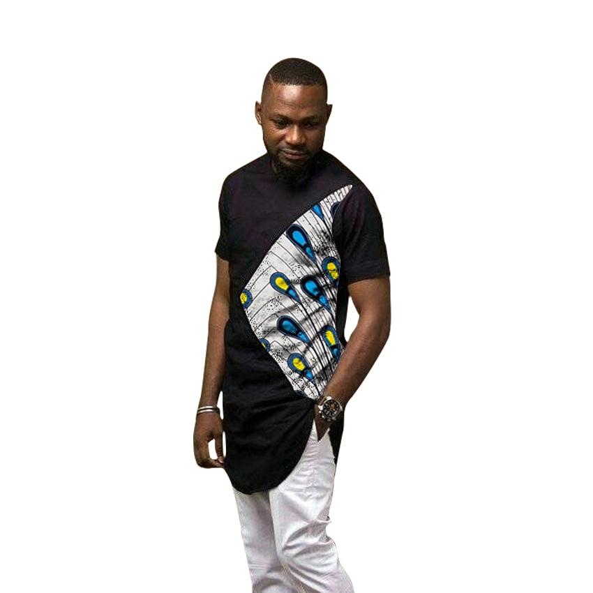 Африканские модные мужские рубашки Дашики футболка с принтом