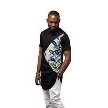 African fashion mens shirts dashiki print tshirt custom made Ankara tops man patchwork shirt Africa clothing
