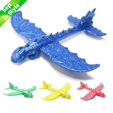 48cm Hand Launch Throwing Glider Aircraft Inertial Foam EPP Airplane Dinosaur Train Dragon Plane Model Outdoor Educational Toys(China)