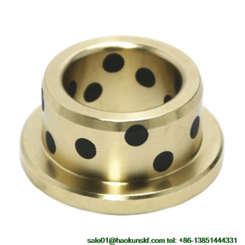 JFB4020 / 4020F (Size:40*50*20/65*5mm) Flanged Solid-Lubricanting Oilless Graphite Brass Bushing|Copper Bearing