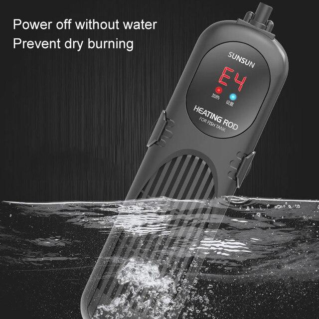Chauffe eau pour Aquarium, réglable, Submersible, intelligent, Thermostat PTC, affichage LCD, contrôleur de température de l'eau  