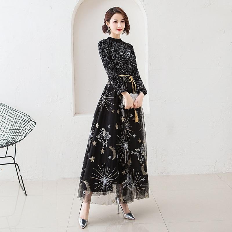 Oversize-3XL-Exquisite-Women-Dress-Evening-Party-Starry-Sky-Gowns-Black-Gorgeous-Sequins-Winter-Long-Sleeve (1)