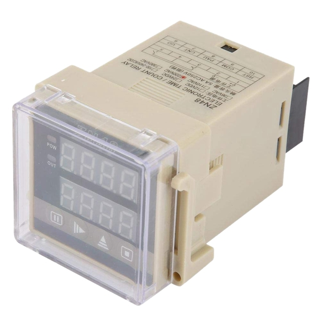 HFES ZN48 AC220V Digital Time Relay Counter Multifunction Rotating Speed Frequency Meter