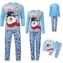 Рождественский топ с надписью «Man Dad»+ штаны с принтом Рождественская семейная одежда, пижамы Домашняя одежда для сна одинаковые комплекты костюм для родителей и детей