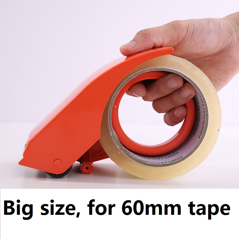 Plastic Tape Dispenser Office Adhesive Tape Cutter 48/60mm Tape Knife Carton Sealer Sealing Tools Warehouse Save Effort Fast 802