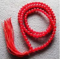 + + + 00348 Tibet Boeddhistische 108 Rode Jade Kralen Gebed Mala Ketting color Mode gem sieraden Zilveren Quartz stone Crystal Vrouwen