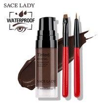 SACE LADY Brown Eyebrow Gel Waterproofแต่งหน้าTint Eye Dye Creamชุดแปรงแต่งหน้า6สีเครื่องสำอางค์ธรรมชาติขายส่ง