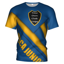 2020 Boca Juniors Jersey di Calcio di Calcio 3d T Shirt Argentina Boca Juniors Kit Tuta Bambini Bambino Calcio T-Shirt XXS-4XL(China)