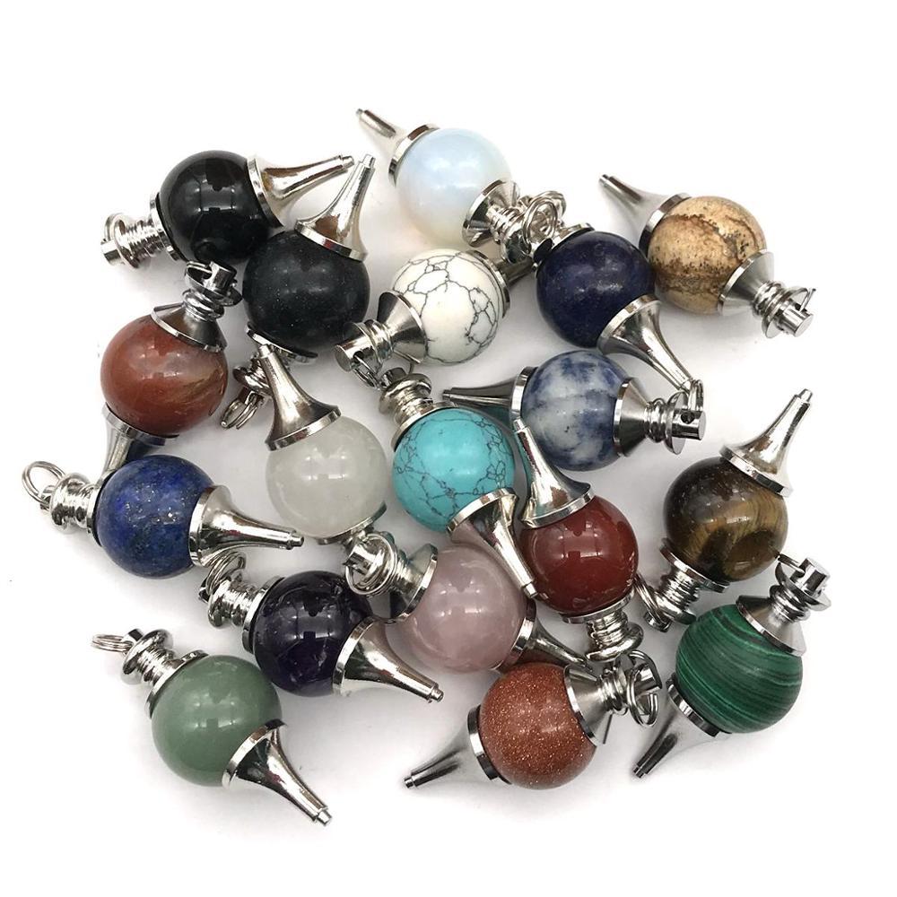 ASHMITA малахитовое сердце из кабошона с 7 чакра камень кулон ожерелье