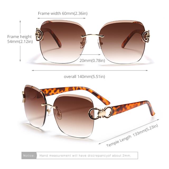 Women's Frameless Vintage Sunglasses