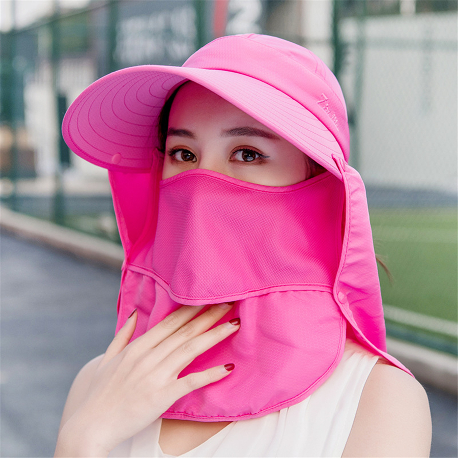 Brand New UV Protection Bseball Caps Women Cover Face Cycling Outdoor Folding Beach Sun Hats Female Big Brim Summer  Visor Cap