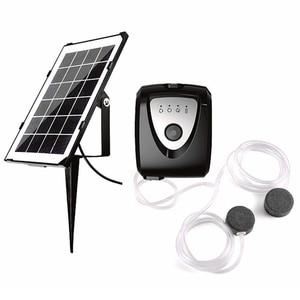 Солнечный кислородный генератор, кислородный насос, солнечный аквариум, комплект воздушного насоса для аквариума, чтобы увеличить кислоро...