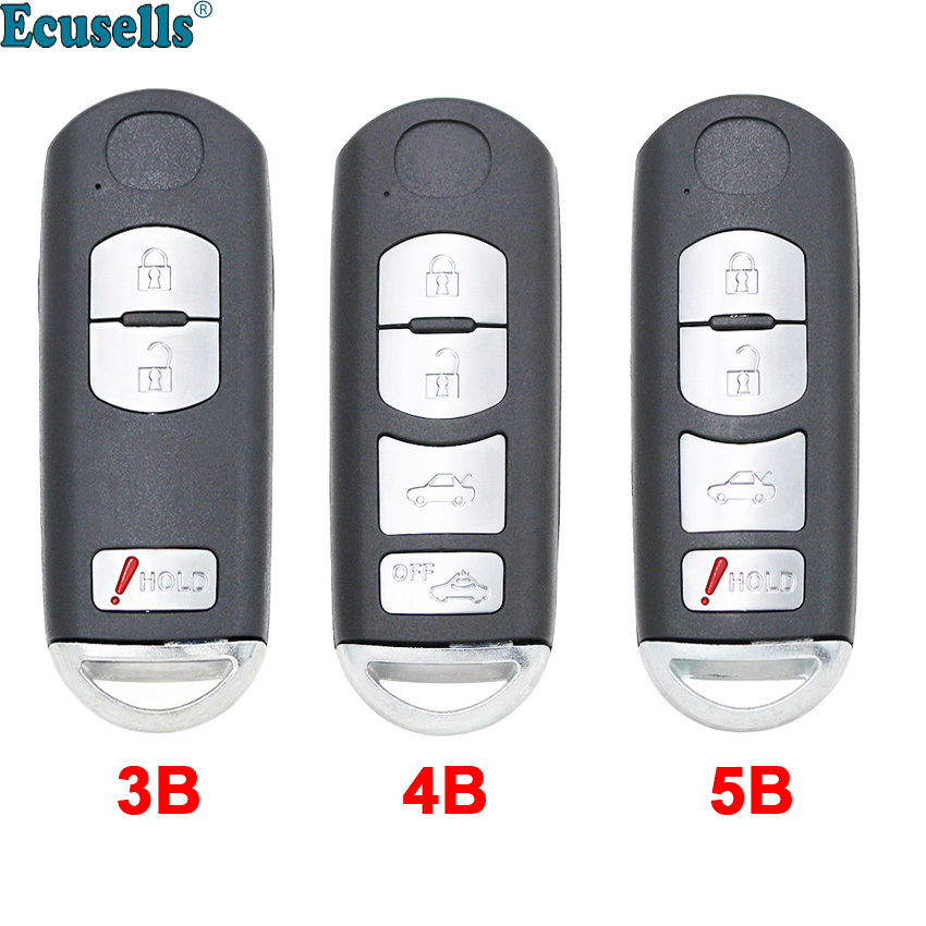 2+1 Button 3 Button 3+1 Button 4 Button Replacement Remote Key Shell Case Fob For Mazda 3 5 6 CX-7 CX-9 with insert key image