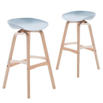 M8 European Creative Bar Chair Modern Minimalist Lift Bar Solid Wood Front Desk Chair Home Bar Stool Fashion High Stool