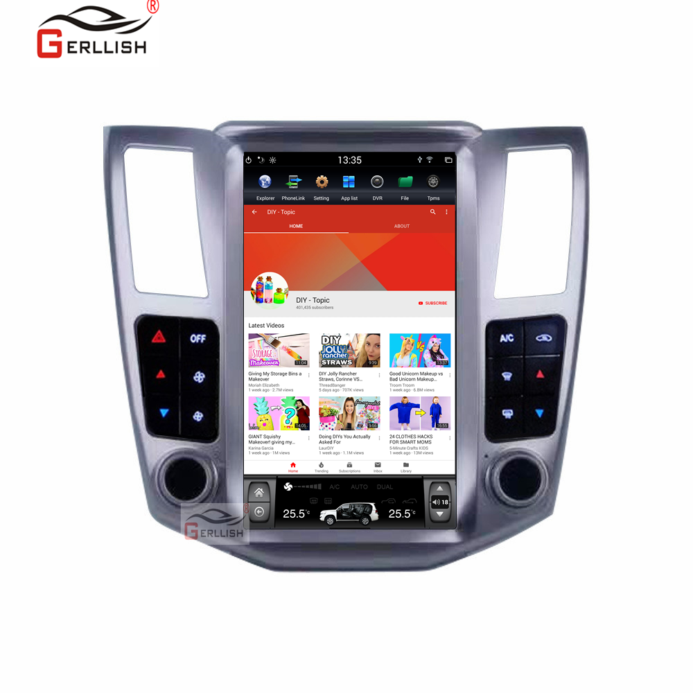 <font><b>Android</b></font> Tesla style car DVD player GPS navigation for <font><b>Lexus</b></font> RX300 <font><b>RX330</b></font> RX400h 2004-2007 car radio player auto stereo head unit image