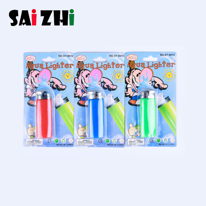 Saizhi 1PCS Funny Party Trick Gag Gift Water Squirting Lighter Fake Lighter Joke Prank Trick Toy Gifts Random Color