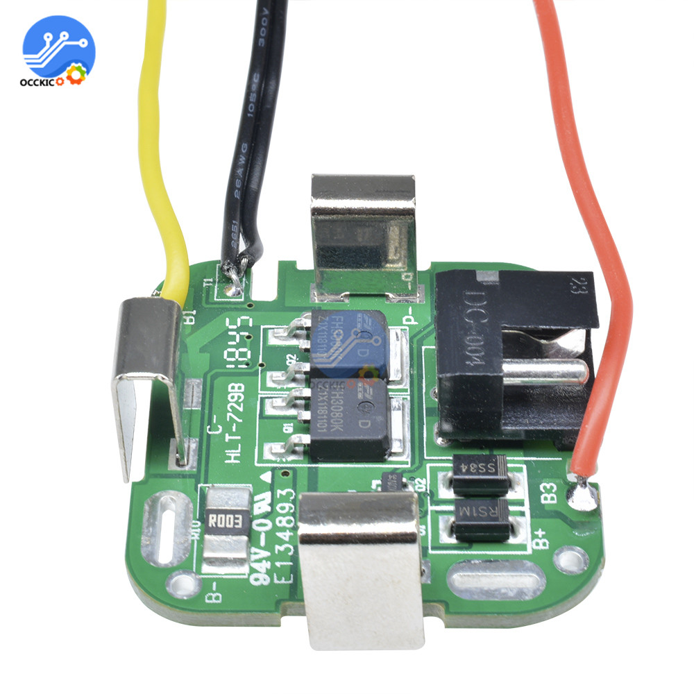 BMS 4S 14.8V Dual MOS 18650 Lithium Battery Charging Protection Board Li-ion Power Bank Charger With Wire