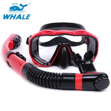 Face Snorkeling Mask Set Full Dry Breathing Tube Diving Goggles Toughened Glass Diving Underwater Swimming Training Scuba Set