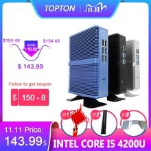 Topton Fanless Mini PC Intel i5 7200U i3 7100U Alumimun Alloy Dustyproof Household Mini Computer HDMI, VGA, LAN, 6 USB 300M WiFi