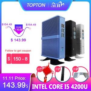 Image 1 - Topton Fanless Mini PC Intel i5 7200U i3 7100U Alumimun Alloy Dustyproof Household Mini Computer HDMI, VGA, LAN, 6 USB 300M WiFi