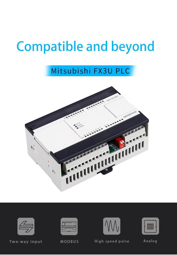 2ai 1ao 16di 10do modbus transistor analógico relé para mitsubishi