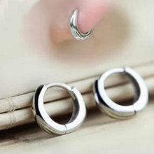 925 Sterling Silver Ear Bone Buckle Earrings For Women Simple Cartilage Buckle Mini Small Round Circle Earrings 5Y230(China)
